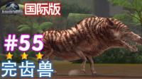 【亮哥】侏罗纪世界游戏国际版55 3星完齿兽(新生代-完齿猪)★恐龙公园