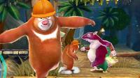 熊出没之环球大冒险游戏,熊大大战鼠大王boss娱乐解说