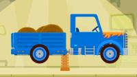 闪电赛车:拼装蓝色小货车 汽车卡车火车类儿童游戏.mp4