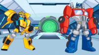 【亮哥】变形金刚救援机器人#2灾难来袭 擎天柱变霸王龙,大黄蜂变剑龙 恐龙机器人