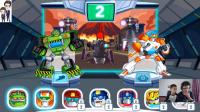 变形金刚救援机器人灾难来袭第1期:火山场景通关★汽车人玩具