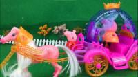 粉红猪小妹佩奇的声光小马车 124