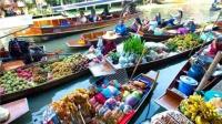 泰国曼谷水上市场,旅行者必去的地方