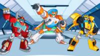 【亮哥】变形金刚救援机器人#5灾难来袭 洪水恐龙机器人