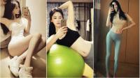韩国模特练瑜伽自拍美艳身材秀性感若网友血脉