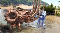 【肉搏快乐】方舟:恐龙1389巨人打怪兽!