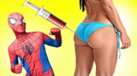 蜘蛛侠给艾莎打屁股针 文宝蜘蛛侠 搞笑蜘蛛侠视频