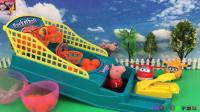 小猪佩奇VS超级飞侠打手指篮球比赛玩具 36