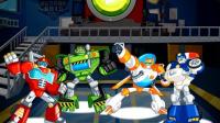 变形金刚救援机器人灾难来袭第9期:雪地火山救援★汽车人玩具