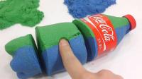 彩泥趣味制作可乐瓶