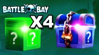 ★Battle Bay★开1个高阶藏宝箱和4个星星宝箱 #G6★Clash Royale★酷爱娱乐解说