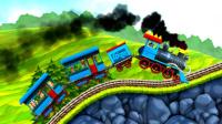 恐龙公园火车比赛 05 阿尔卑斯火车板块 托马斯小火车 侏罗纪世界 火车玩具模型 侏罗纪公园 霸王龙 三角龙 翼手龙 迅猛龙 蒸汽小火车