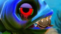 食人鱼模拟器 一个能打的都没有 骷髅骸骨鱼皮皮虾我们走深海怪物出没         《时空小涵搞笑游戏实况》