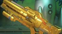 GYW预言守望先锋☆黄金武器:士兵76黄金步枪 第6把金色武器 枪枪爆头人形外挂