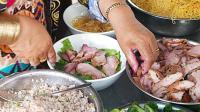 越南街头美食小吃, 据说西贡最好的面条, 你看咋样?