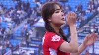 韩国美女啦啦队热舞表演, 青春靓丽的身姿好迷人