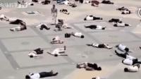 恶搞, 街头一百多个人突然昏倒看路人什么反应。