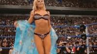 WWE性感女子撕衣大战 和服秀 泰瑞对阵日本女人