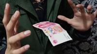 魔术教学: 钞票悬空术! 原来这么简单