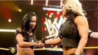 经典女子摔角NXT AJ李vs凯特琳 这飞冲肩多猛看了