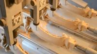 实拍先进的3D木工雕刻机, 雕刻出令人惊叹神作!
