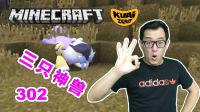 【酷爱游戏解说】我的世界Minecraft神奇宝贝模组302三只神兽,雷公好难抓