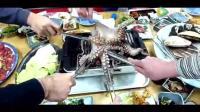 咦, 活烤大章鱼, 韩国人怎么会喜欢吃这个!