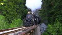 蒸汽火车, 与风景自为一体, 远看近看都是一幅画