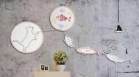 绣绷简单缝纫 教你做萌系小猫吃鱼墙面装饰画 让你的小窝趣味十足 94
