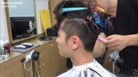 男生发型三面剃短, 保留头顶长度, 出来的效果有点明星范儿!