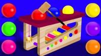 打积木玩具玩小珠子识颜色 ABC早教