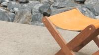 牛人工匠自制核桃木皮革凳, 好精致的小马扎!
