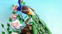 孔雀牡丹5徐真面塑培训 花鸟系列视频教程 学习交流请加微信18590965183