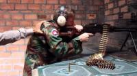 歪果仁试射PKM通用机枪, 唉声叹气 打枪也会累?