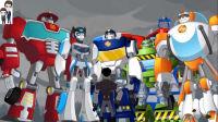 变形金刚救援机器人灾难来袭第10期: 获得龙卷风场景勋章★汽车人玩具