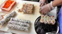 伦敦街头小吃 看英国大叔玩转日本寿司