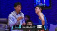 什么意思? 亚太联赛中国乒乓球老将江嘉良指导日本张本智和 他做出这种表情