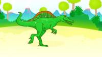 霸王龙 肿头龙 蛇颈龙 沧龙 恐龙乐园 侏罗纪世界 恐龙认知 拼接 亲子 陌上千雨