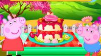小猪佩奇小游戏★手工制作草莓夹心蛋糕★小马宝莉海绵宝宝熊出没奥特曼