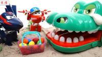 超级飞侠与饥饿鳄鱼吃彩虹糖果变惊喜彩蛋神秘包裹等你儿童英语abc少儿英语abc