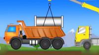 最新挖掘机表演视频 儿童工程车组装