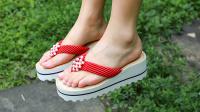 【七针坊】中国结夏凉鞋--亚克力人字拖(上集)