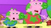 小猪佩奇玩泥巴跳泥坑 粉红猪小妹喜欢运动