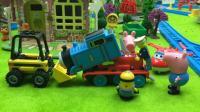 小猪佩奇和超级飞侠维修说话会重复的托马斯小火车 110
