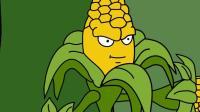 植物大战僵尸动画狡猾的橄榄球僵尸抛小鬼击落了玉米轰炸机