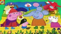 小猪佩奇乔治扮海盗拼图玩具视频 超级飞侠围观 104