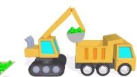 拖车汤姆火车 挖掘机视频表演大全2 挖土机玩具视频