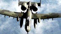美国空军四架A-10攻击机-飞行在密苏里州上空
