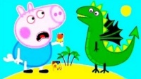 小猪佩奇和乔治吵架 粉红猪小妹不喜欢恐龙