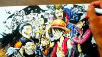 日本职业漫画家吉村拓也绘制别人的作品居然也能这么驾轻就熟! 草稿都不用打